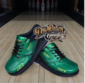 Green Lover - Dexter Bowling Shoes @DaSilvaCustomKickz