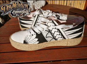 Maori Inspired - Custom Design Sneakers @DaSilvaCustomKickz