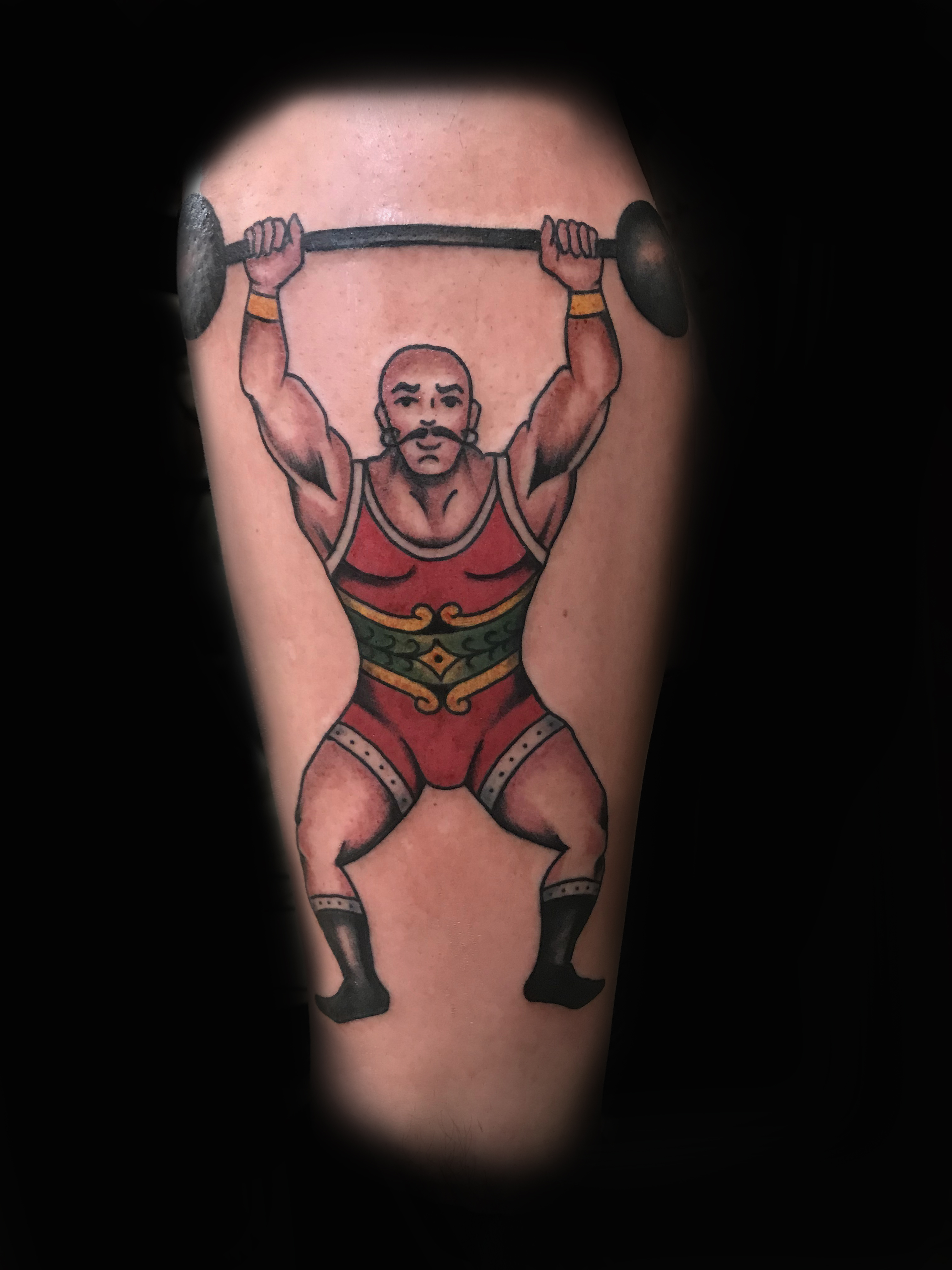 Ivan-Herrera-Tattoo-Berlin-Traditional-Classic-Strong-Man-Circus