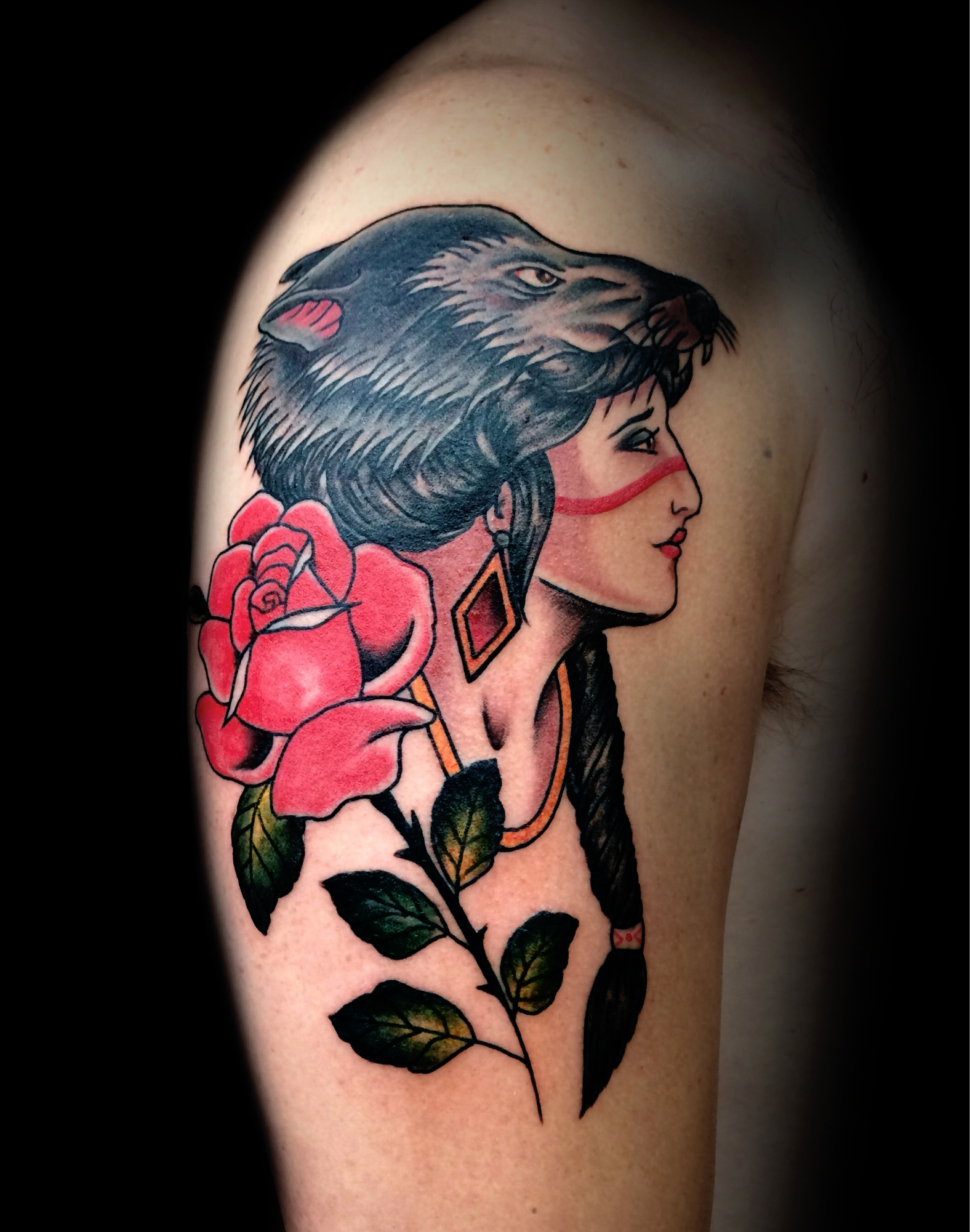 Warrior Rose Ivan Herrera Traditional Tattoo Berlin