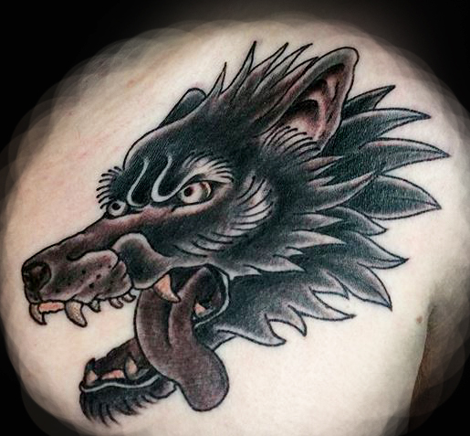 Wolf Head Ivan Herrera Traditional Tattoo Berlin