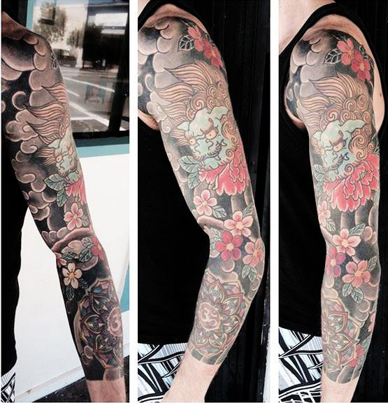 Japanese Full Sleeve Ivan Herrera Traditional Tattoo Berlin