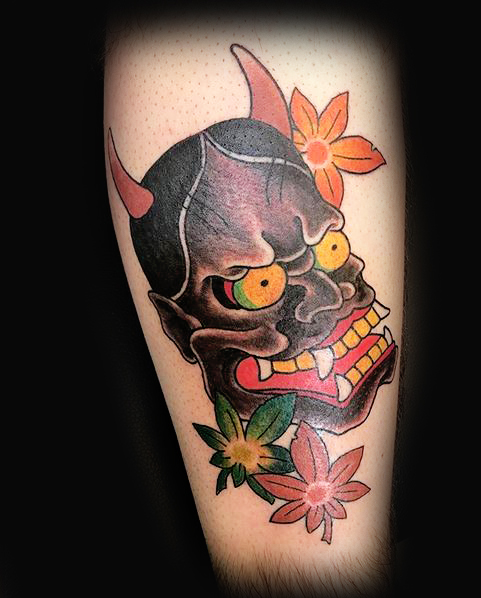 mask Japanese Ivan Herrera Traditional Tattoo Berlin