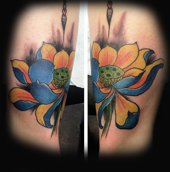 Japanese Lotus Flower Ivan Herrera Traditional Tattoo Berlin