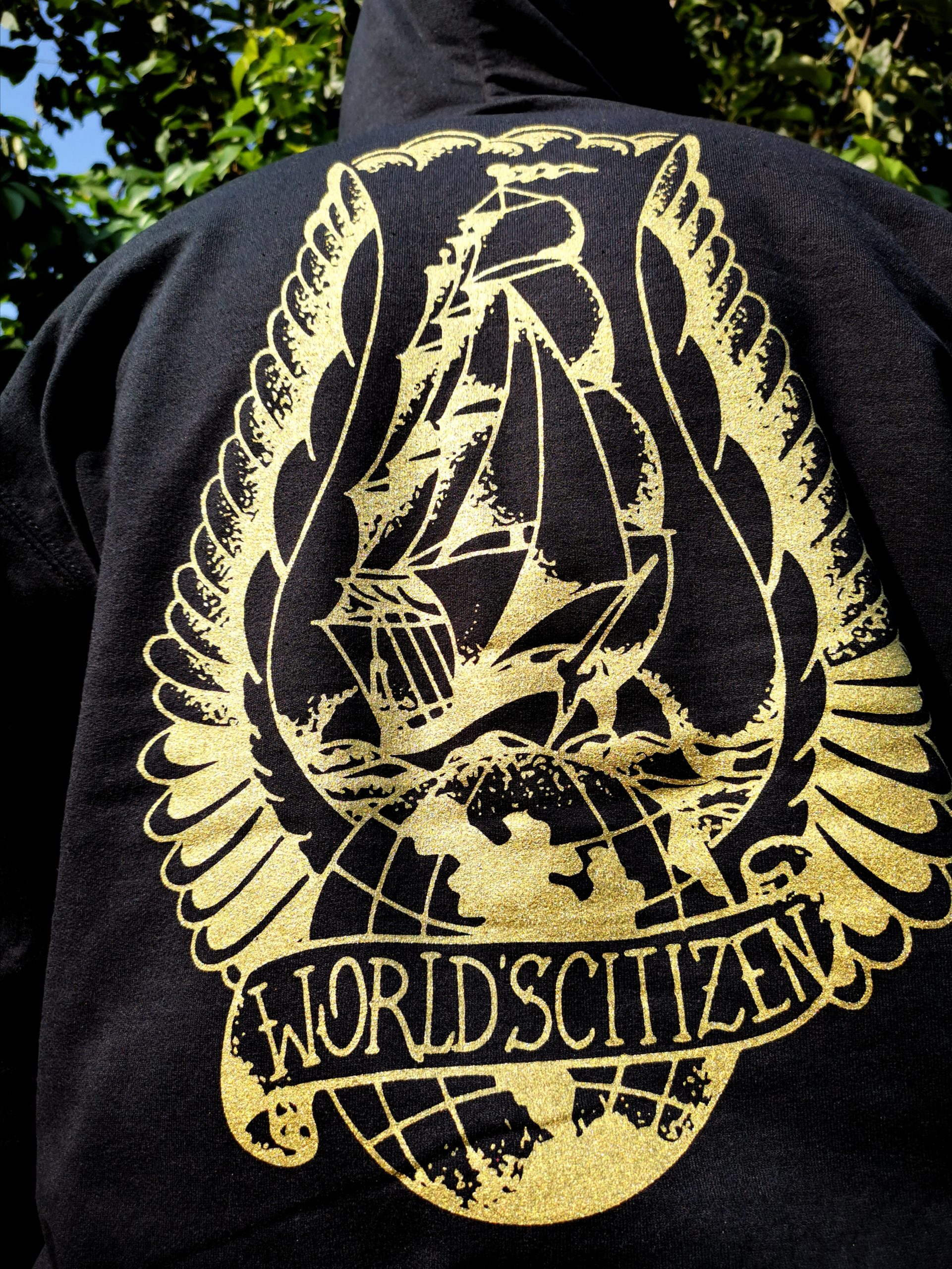 BACK DESIGN - World´s´Citizen Ship by Ivan Herrera Traditional Tattoos©