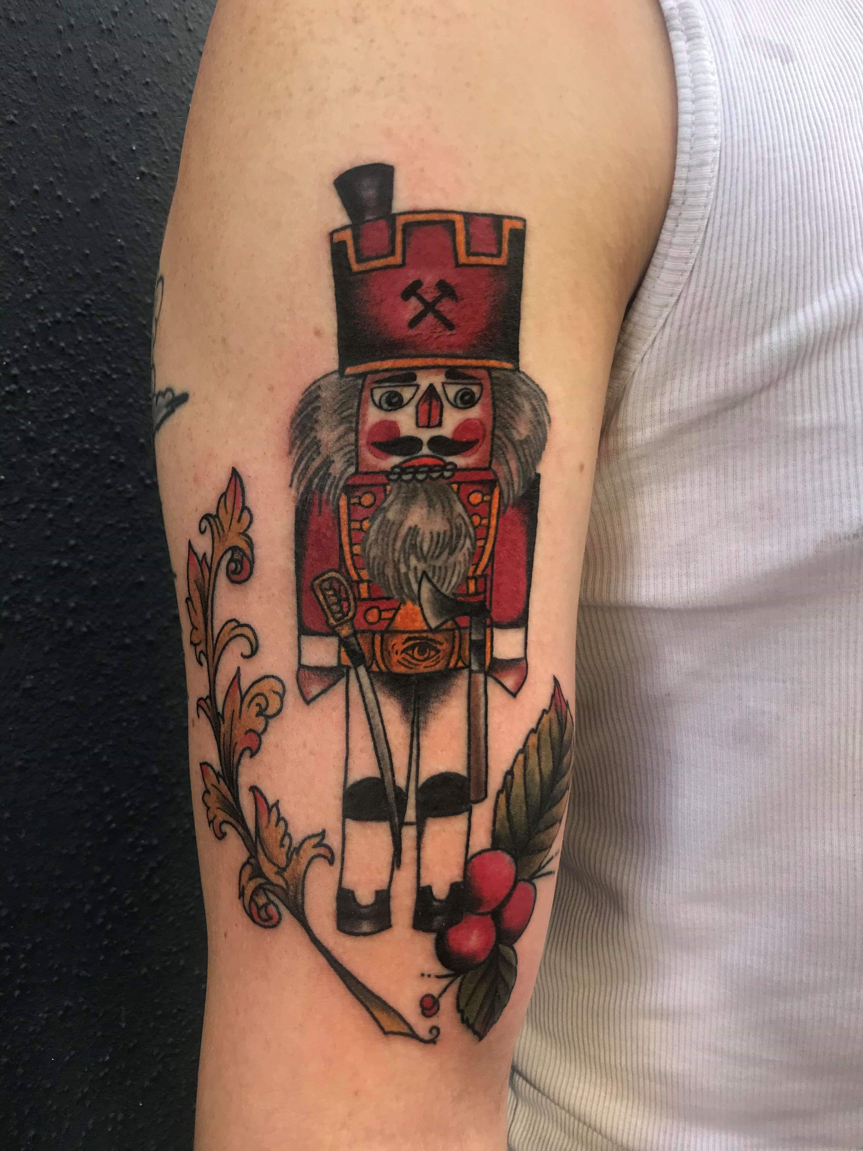 Ivan Herrera Traditional Tattoo Berlin Nutcracker Nussknacker Erzgebirge