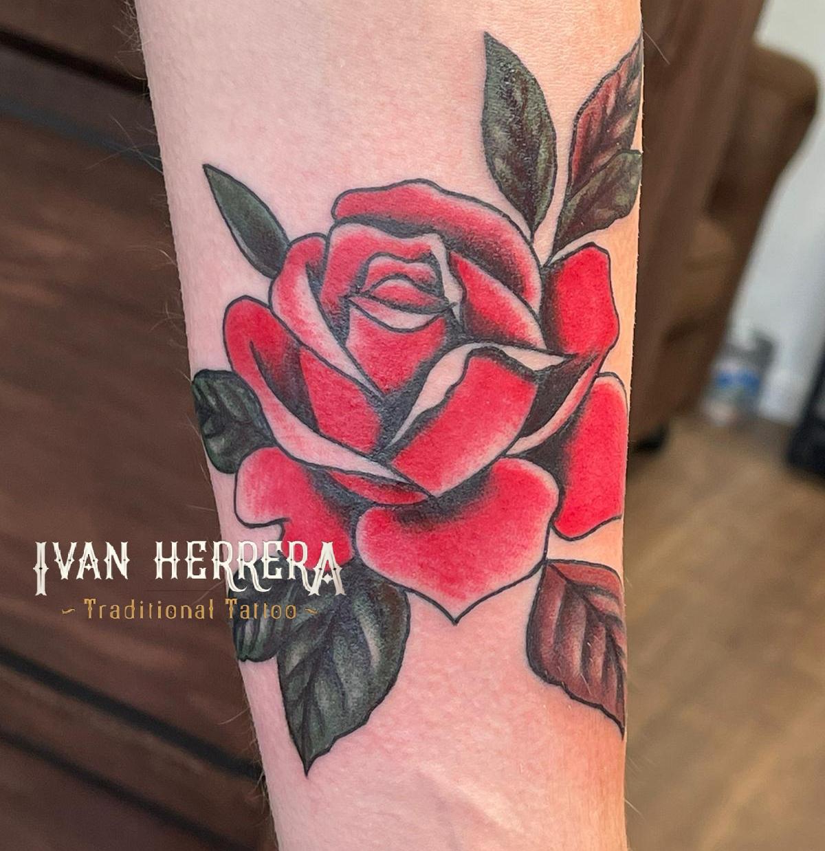 Rose Tattoo by Ivan Herrera Tattoos