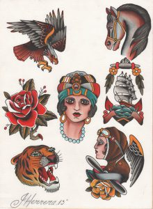 Traditional Tattoo Flash Ivan Herrera Tat2