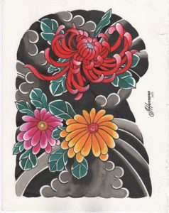 Classic Tattoo Flash Japanese Ivan Herrera Tat2