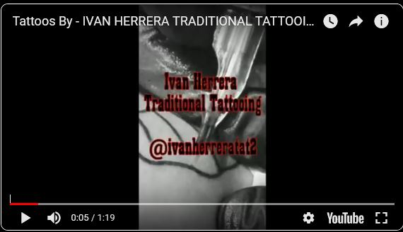 Youtube Tattoos by Ivan Herrera Session